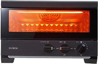 siroca プレミアムオーブントースター すばやき(2枚) ST-2A251 ブラック [1分で極上トースト/ノンフライ調理/コンベクション/オーブン/惣菜の温め直し/扉の取り外し可/レシピ付]