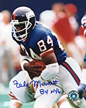 Zeke Mowatt (Super Bowl XXI) Autographed/ Original Signed 8x10 Photo Showing Him w/ the New York Giants in the 1980s