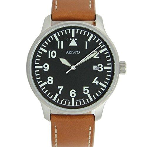 Aristo 3H84 - Orologio da polso, cinturino in pelle