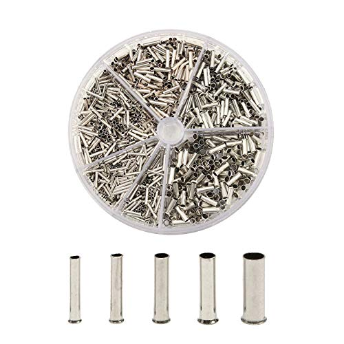 1900pcs 0.5/0.75/1.0/1.5/2.5mm² Terminales de crimpado de cobre retardante Kit,Retardante de Cobre Crimpado...