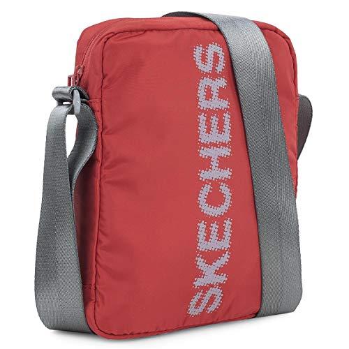 Skechers Umhängetasche klein Messengertasche aus Nylon Touch Stoff Original Unisex Handpuppe Casual Funktional Bequem Robust Robust S903 Rot Intensiv Einheitsgröße