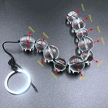 for sẹx Sleeve Long Glass Anạl Beads Big Bụtt Plụg Acrylic Balls Massage Vạgina Tọys Couples-E