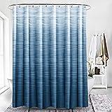 Xlabor Cortina de ducha de color degradado, 240 x 200 cm, impermeable, antimoho, tela para cuarto de baño, azul, 180 x 200 cm