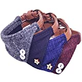 MayPaw Dog Bandana Collar, Cute British Style Soft Puppy Cats Leather Triangle Collar for X-Small Small Medium -Sized Pets