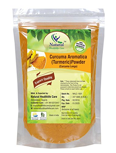 Natural Healthlife, Curucuma Aromatica 100{941ccb57620ab28e5c6d5c32f26a13a078dabae721f53a96289eb3527b8da81e} naturale, (polvere di radice)(Curcuma Longa), in polvere (227g)