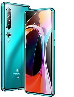 Xiaomi Mi 10 ケース Xiaomi Mi 10 バンパー 磁気吸着ケース アルミフレーム ガラス背面パネル 衝撃吸収 Xiaomi Mi 10 金属フレーム マグネット式 Xiaomi Mi 10 カバー Mi10-CW-20306...