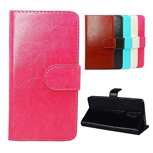 YZKJ Cover für Allview Soul X6 Mini Hülle,Flip PU Ledertasche Magnetknopf Wallet Tasche Standfunktion Schutzhülle Hülle mit Kartenfach für Allview Soul X6 Mini (6.2