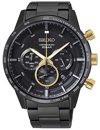 Seiko Chronograaf Quartz Horloge voor heren met RVS Band SSB363P1