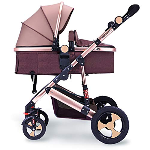 Sale!! DZFZ Baby Stroller High Landscape Can Sit Reclining Foldable Newborn Baby BB Baby Stroller Ch...