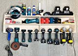 Cordless Drill Tool Holder Organization Storage Rack Wood Shelf Case Organizer 10-Slot Birch Plywood...
