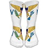 Bandera unisex de las Islas Vírgenes de los Estados Unidos Calcetines sobre la rodilla 20 30Mmhg Compresión graduada Lo mejor para enfermería médica Casuel Senderismo Viajes y vuelo Hermoso regalo