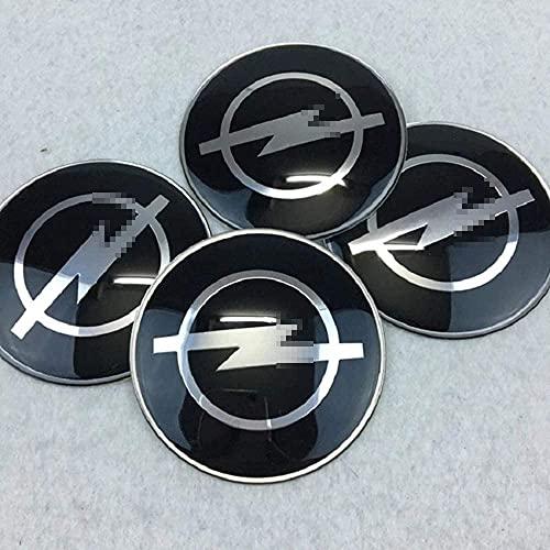 4 Cubiertas Centrales De Llanta para Opel Astra H G Insignia Mokka 65mm, ProteccióN Con Logotipo Prueba Agua Polvo Con Buje Rueda Accesorios Partes