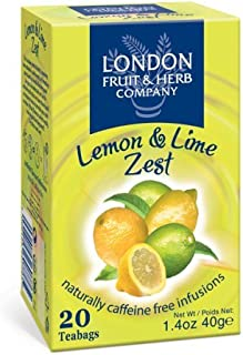 London Fruit & Herb Co Lemon & Lime Zest 20 Bags (Pack of 2)