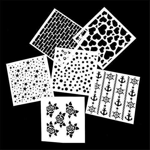 YCBHD 2020 Hot Sale 1PC Herbruikbare Stencil Airbrush Schilderen Art DIY Home Decor Scrapbooking Album Craft Fotokaart Papier Craft Sjabloon Thuis/Keuken Maat 7,5