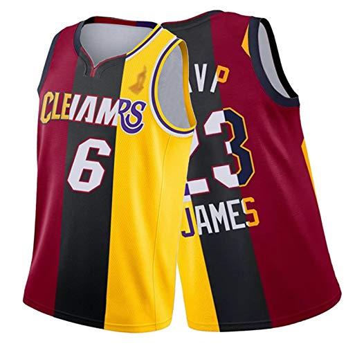WXZB Basketball Jersey James # 23, fanticos de Baloncesto Camisetas y Tops, Calor Laker Cavaliers Contraste Costiting Jersey, Regalos para Fans M