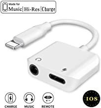 Headphone Adapter for iPhone X Adapter 3.5mm Aux Audio Adapter Charger 2 in 1 Headphone Adapter Charger and Audio Connector Dongle for iPhone 7/7 Plus/8/8 Plus/X/XR/Xs/Xs Max Support for All iOS 12