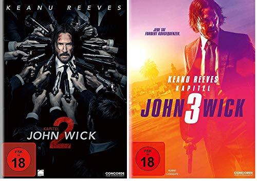 John Wick Kapitel 2 + Kapitel 3 im Set - Deutsche Originalware [2 DVDs]
