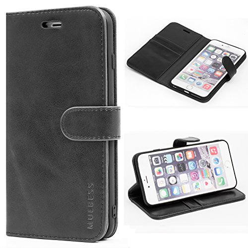 Mulbess Funda para iPhone 6S Plus, Funda iPhone 6 Plus, Funda Cartera iPhone 6S Plus, Funda Libro para iPhone 6S Plus con Tapa, Negro