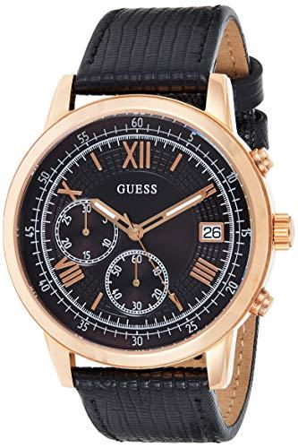 Guess Herren Chronograph Quarz Uhr mit Leder Armband W1000G4