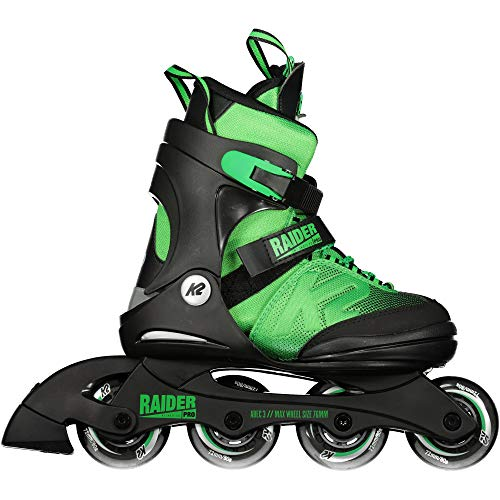 K2 Unisex-Kinder Raider Pro Pack Skateboardschuhe, Schwarz (Black/Green 001), 32 EU