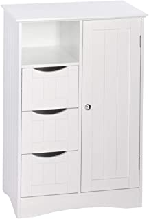 white beadboard storage cabinets