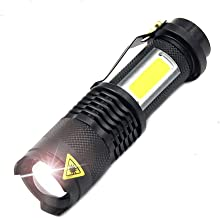 Small Portable Work Light 3800 lumens Zoom Indoor and Outdoor Outdoor Life Lights with USB Cable Direct Charge Flashlight