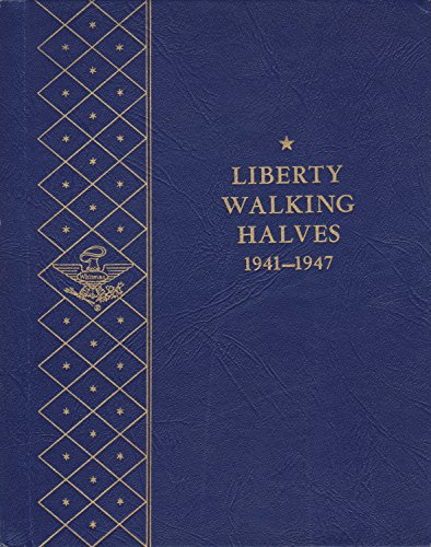 1941-1947 LIBERTY WALKING HALVES USED WHITMAN BOOKSHELF SERIES No 9424:2.00 COIN; ALBUM, BINDER, BOARD, CARD, COLLECTION…