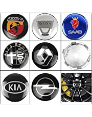 4 stks 60mm auto wiel centrum hub caps auto embleem badge logo wiel center cap voor TOYOTA HONDA LEXUS FIAT SEAT VOLVO INFINITI KIA (Color : BMW)