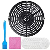 Air Fryer Replacement Parts, Round Grill Plate Crisper Plate 3.7-4.0 QT Non-Stick Coating Air Fryer Accessories Rack for Gowise Chefman Dash Power