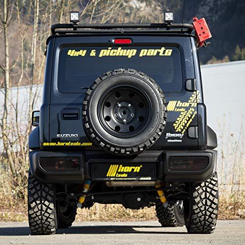 horntools Dachträger EL PORTADOR Suzuki Jimny GJ mit Fixer Reling Alu schwarz by Offroad 4x4 Dachzelt Zubehör