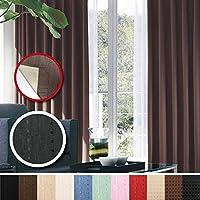 窓美人 センチュリオン 完全遮光 特殊コーティングカーテン 幅100×丈135cm 2枚入り ブラック ストライプ柄 断熱・遮熱・防音 形状記憶付