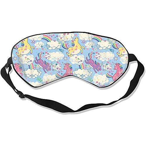 Blindfold, Unicorn Pastel Magic Rainbow Stijlvolle, kleurrijke slaapoogmaskers voor een nachtslaap