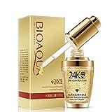 BIOAQUA - 24K Gold Essence - Mascarilla hidratante de ácido hialurónico y colágeno, oro de 24...