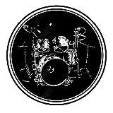 QQDD rutschfeste Trommel Teppiche Schallschutzdecke Schlagzeugteppich Für Bass Drum Snare Rug Und Elektronische Trommel Jazztrommel Musikinstrumentenmatte Klavier Antivibrationsmatten Teppich (100CM)