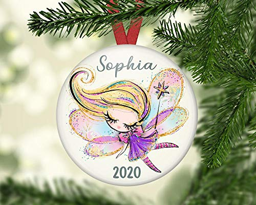 Situen Baby's First Christmas Ornament, Baby Girl First Christmas Ornament, Christmas Fairy Decorations For The Tree