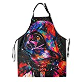 Darth Vader Apron with Adjustable Straps and 2 Pockets, Star Cooking Kitchen Wars Aprons, BBQ Drawing, Women Men Chef