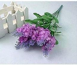 Coollooda A bouquet 10 Head Artificial Lavender Home Garden Decoration faux Silk Flowers Violet Bouquet Purple