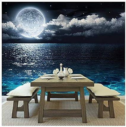 Azutura Ocean Moon Wall Mural Wallpaper Available In 8 Sizes Digital Amazon Co Uk Diy Tools