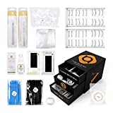 BEYELIAN Eyelash Extensions Kit Lash Extension Practice Supplies Pack of Professional Glue, Lashes, Tweezers, Remover and Other Lashing Tools