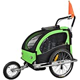 TIGGO World Kids Bike Trailer Bike Trailer Jogger 2in1 Trailer Kids Trailer JBT03A-D02 502-D02