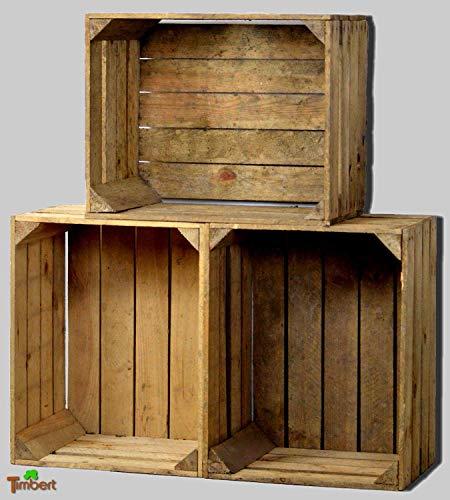 Vintage OBSTKISTEN Alte Apfelkisten Rustikale HOLZKISTEN Natur Weinkisten Wandregal Altholz Schrank Landhaus Hochzeit Shabby Antik Holz Deko