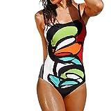 manadlian Costume da Bagno Donna Intero Push Up Multicolore Bikini 2 Pezzi Reggiseno Perizoma Costumi Interi Donna Spiaggia Trasparente Sexy Mare Hot Beachwear Bikini Diviso Sexy Stampa Swimsuit