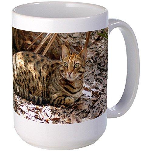 CafePress - Bengal Cat Large Mug - Coffee Mug, Large 15 oz. White Coffee Cup