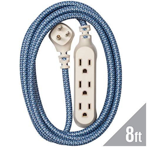 360 Electrical 360417 Habitat Harmony Braided Extension Cord, 8 ft. - Summer Twilight