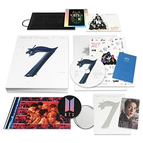 BTS Album - MAP OF SOUL : 7 [ 2 ver. ] CD + Photobook + Lyrics Book + Mini Book +...