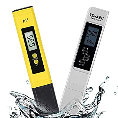 Aibrisk TDS and PH Meter,Digital Water Quality Tester,Perfect Water Test Meter Combination for Drinking Water, Aquariums, Swimming Pools and Other Water Systems