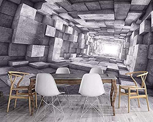 Benutzerdefinierte Tapete 3D Retro Extended Space Tunnel Industrielle Rückseite Wohnzimmer Schlafzimmer TV View 3D Wallpaper fototapete 3d Tapete effekt Vlies wandbild Schlafzimmer-250cm×170cm