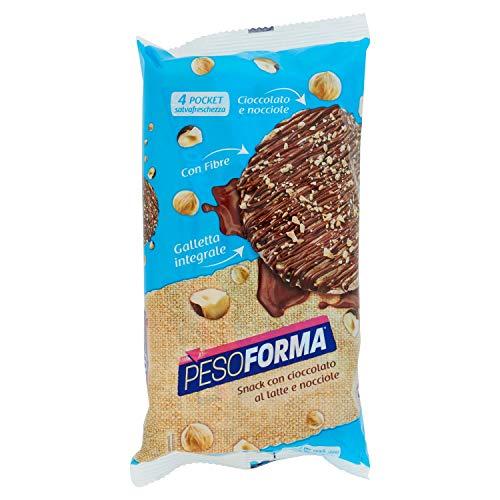 Pesoforma Galletta integrale cioccolato al latte e nocciola 4 confezioni da 8 snack