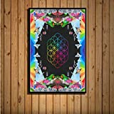 baiyinlongshop Coldplay A Head Full of Dreams Hot Album Music Cover Cantante Star Art Painting Canvas Poster Wall Home Decor 50X70Cm Sin Marco