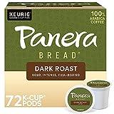 Panera Dark Roast Coffee, Keurig Single Single Serve Coffee K-Cup Pods, 72 Count